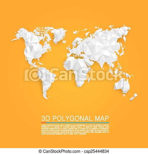 Map 3d polygon - csp25444834