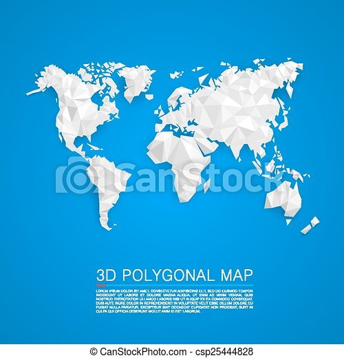 Map 3d polygon - csp25444828