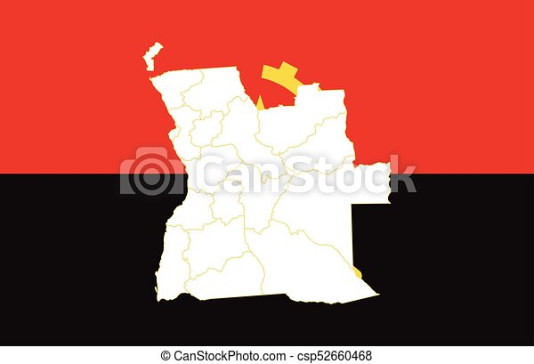 Map and flag of Angola - csp52660468