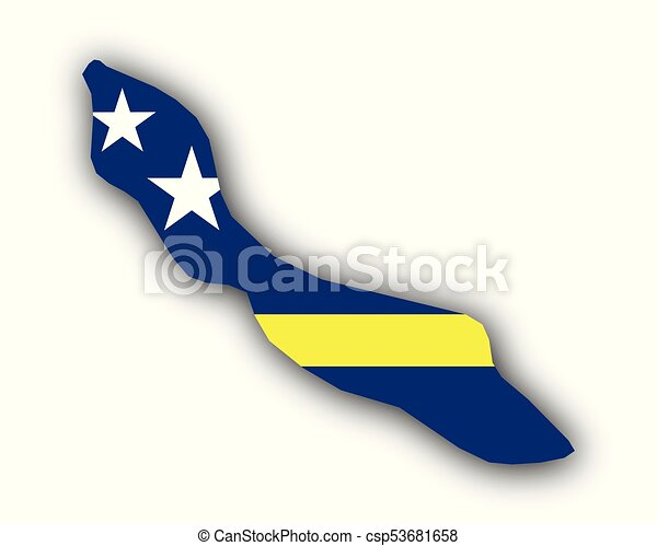 Map and flag of Curacao - csp53681658