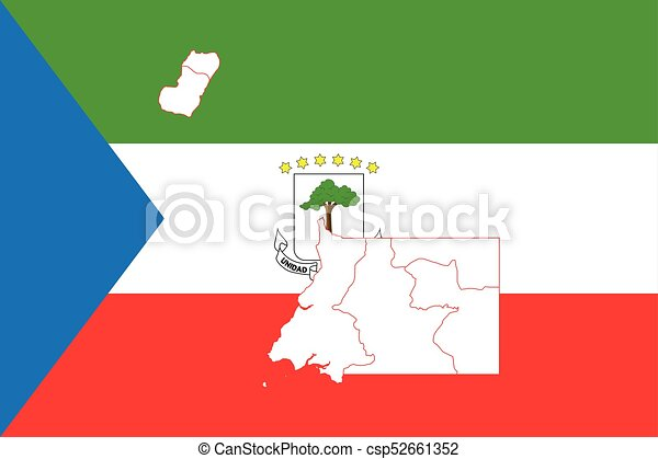 Map and flag of Equatorial Guinea Equatorial Guinea On World Map on equatorial guinea africa, ghana world map, cape verde world map, equatorial guinea on map south america, malabo map, equator location on map, heremakono on the location of guinea africa map, tunisia world map,