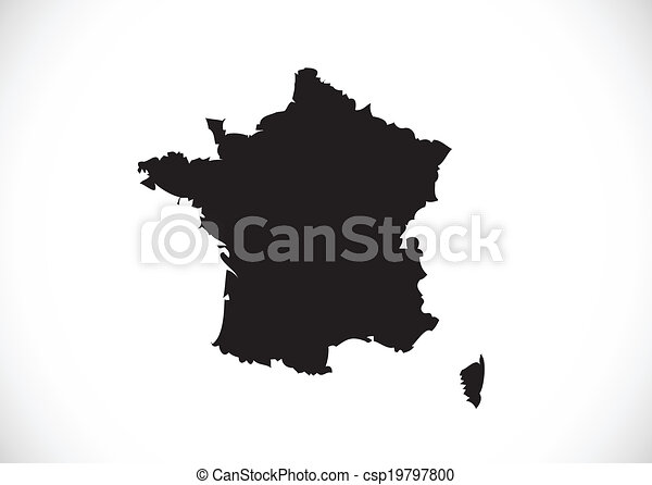 Map and flag of France , French Republic - csp19797800