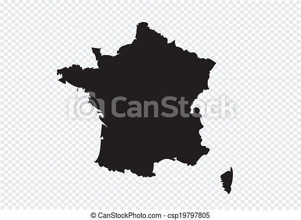 Map and flag of France , French Republic - csp19797805