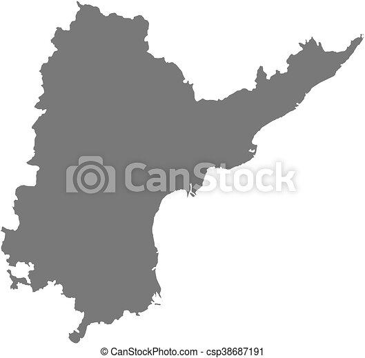 Map - andhra pradesh (india) Map of andhra pradesh, a province of india.
