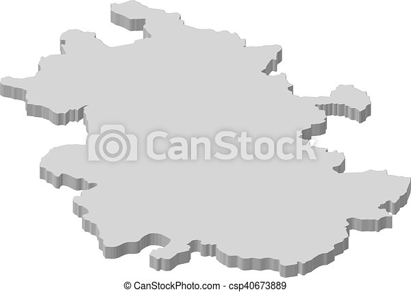 Map Anhui China 3d Illustration Map Of Anhui A Province Of