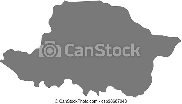 Map arad romania Map of arad a province of romania eps vector