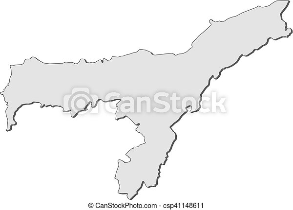 Map Assam India Map Of Assam A Province Of India
