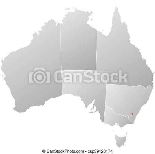 Australia Map Provinces.Map Australia Capital Territory Map Of Australia With The