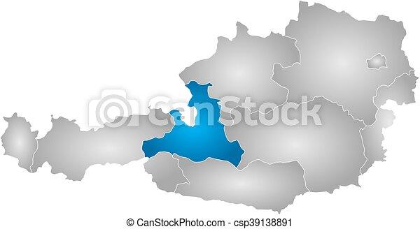 Map austria salzburg map of austria with the provinces eps map austria salzburg csp39138891 gumiabroncs Gallery