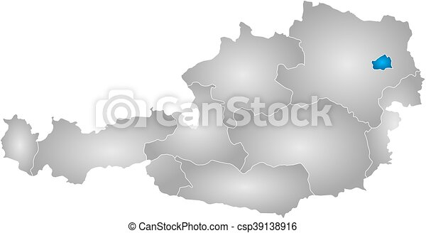 Map austria vienna map of austria with the provinces vector map austria vienna csp39138916 gumiabroncs Gallery