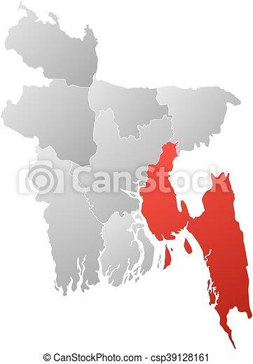 Map bangladesh chittagong Map of bangladesh with the clip art