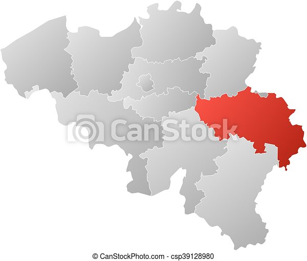 Map belgium liege map of belgium with the provinces filled with map belgium liege csp39128980 gumiabroncs Images