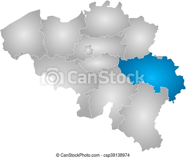 Map belgium liege map of belgium with the provinces filled with map belgium liege csp39138974 gumiabroncs Images