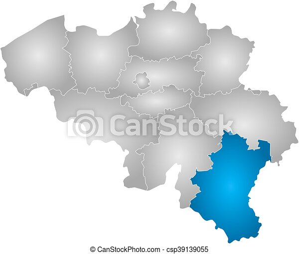 map belgium luxembourg csp39139055