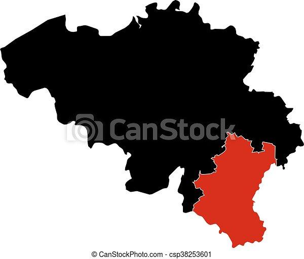 Map belgium luxembourg map of belgium in black luxembourg is map belgium luxembourg csp38253601 gumiabroncs Images