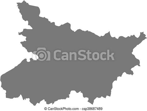 Map Bihar India Map Of Bihar A Province Of India