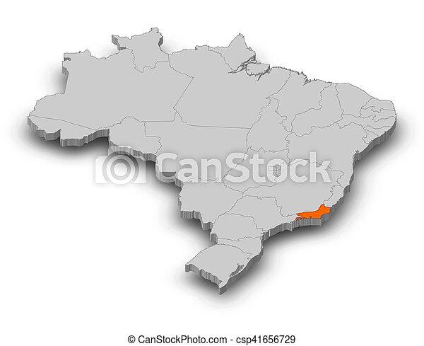 Map brazil rio de janeiro 3d illustration map of stock map brazil rio de janeiro 3d illustration gumiabroncs Choice Image