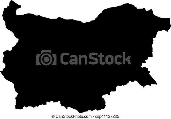 Map - Bulgaria - csp41137225