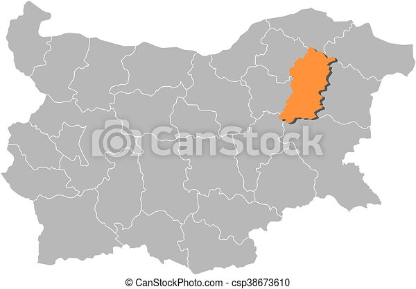 Map bulgaria shumen Map of bulgaria with the provinces