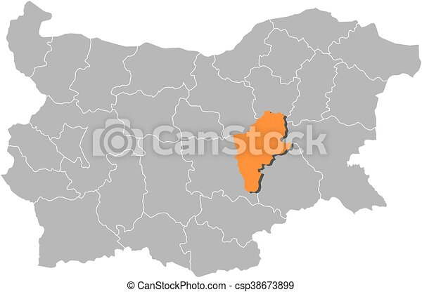 Map bulgaria sliven Map of bulgaria with the provinces eps