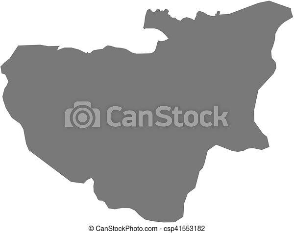 Map - bursa (turkey) Map of bursa, a province of turkey.