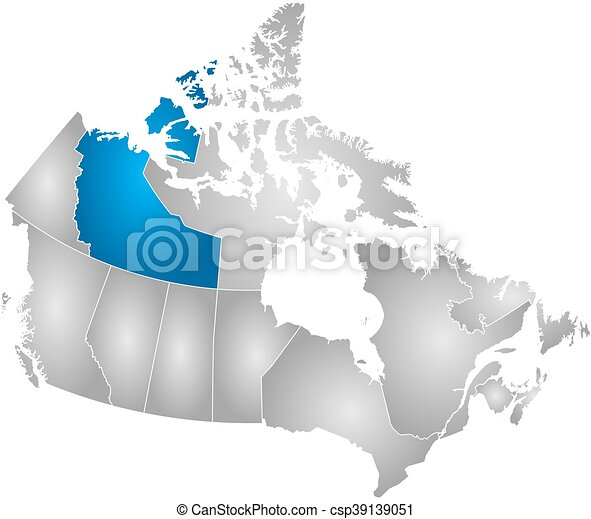 Map - canada, northwest territories. Map of canada with the ...