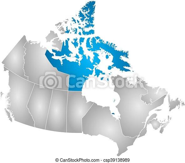 Map Of Canada Nunavut.Map Canada Nunavut