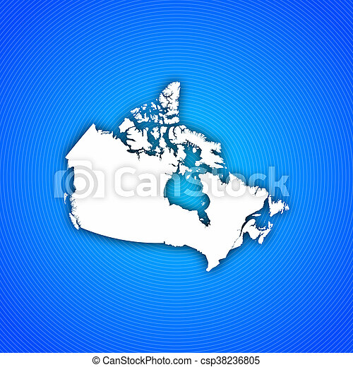 Map Of Canada On Globe.Map Canada Map Of Canada With Circled Background In Blue