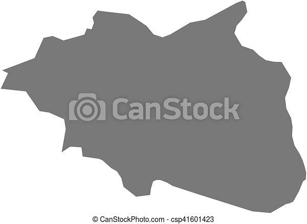 Map cankiri turkey Map of cankiri a province of turkey vector