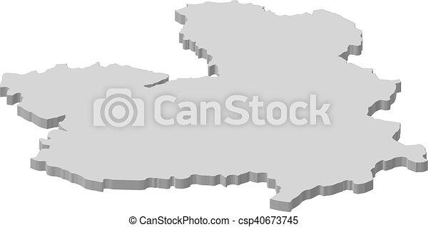 La Mancha Spain Map.Map Castile La Mancha Spain 3d Illustration Map Of Castile La
