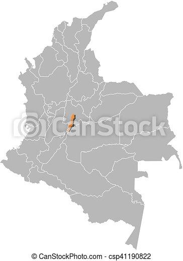 Map - Colombia, Bogota
