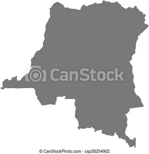 Map - democratic republic of the congo. Map of democratic republic ...