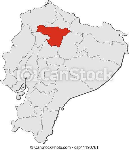 Map ecuador pichincha map of ecuador with the provinces clip map ecuador pichincha csp41190761 publicscrutiny Choice Image