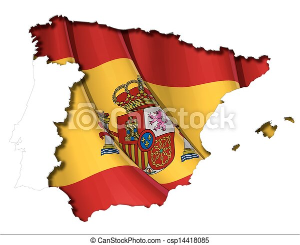 map-flag, spaanse  - csp14418085