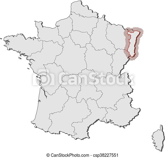 Map france alsace Map of france with the provinces clipart