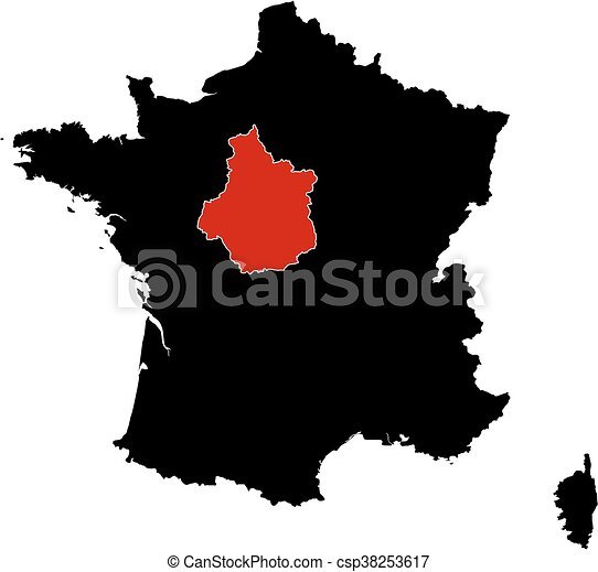 Map france centre map of france in black centre is highlighted map france centre csp38253617 gumiabroncs Images