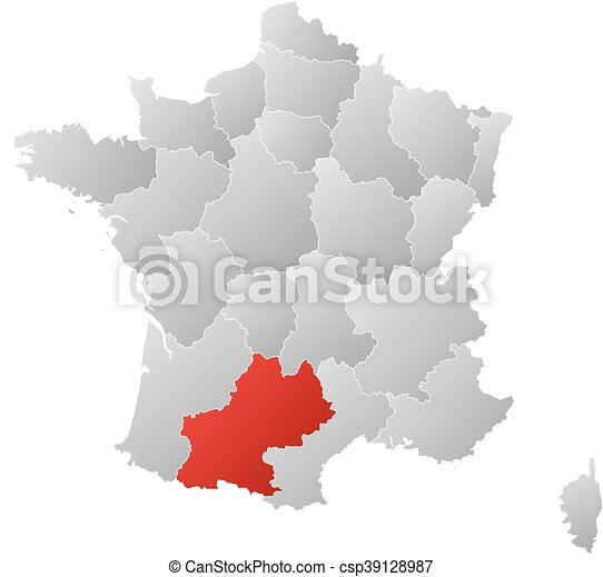 Map France 987.Map France Midi Pyrenees Map Of France With The Provinces