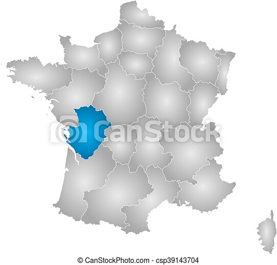 Poitou France Map.Map France Poitou Charentes Map Of France With The Provinces