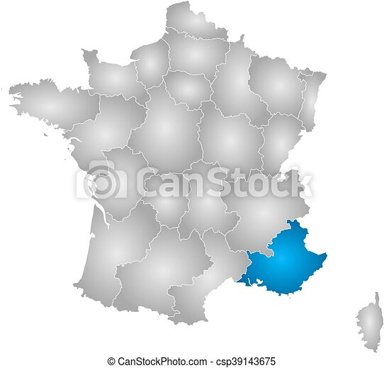 Provence Map Of France.Map France Provence Alpes Cote D Azur Map Of France With The