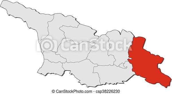 Map Of Kakheti Georgia.Map Georgia Kakheti