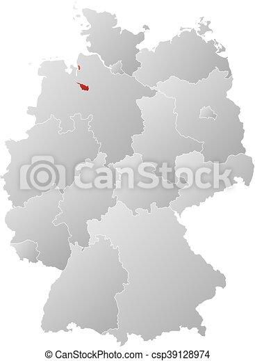 map germany bremen csp39128974