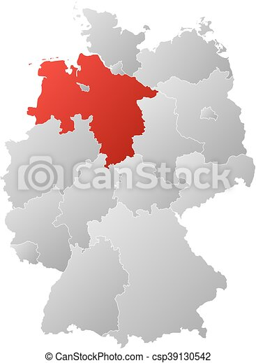 Lower Saxony Germany Map.Map Germany Lower Saxony Map Of Germany With The Provinces