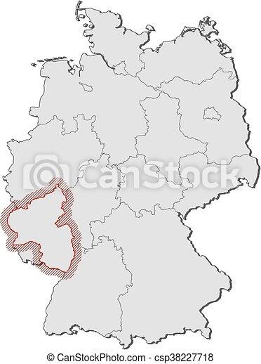 Map Of Germany Rhineland.Map Germany Rhineland Palatinate