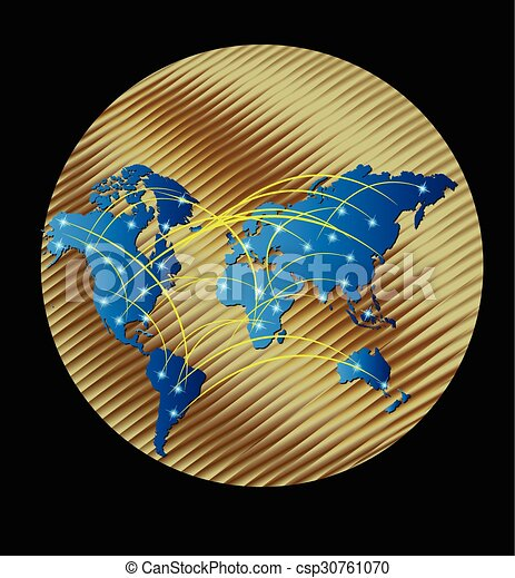Map gold world map globe connected business web logo vectors map gold world vector gumiabroncs Gallery