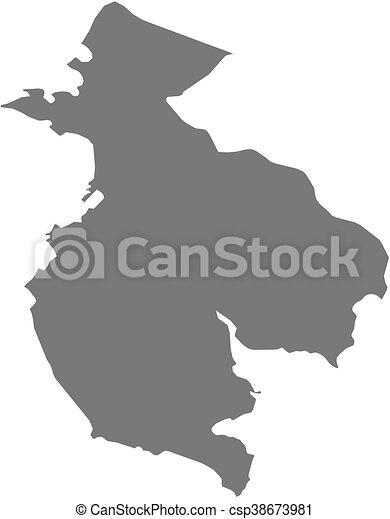 Map - guanacaste (costa rica) Map of guanacaste, a province of costa ...