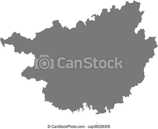 Map   Guangxi (China)   Csp38228309