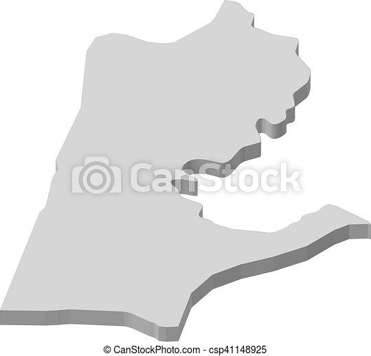 Map   Haifa (Israel)   3d Illustration