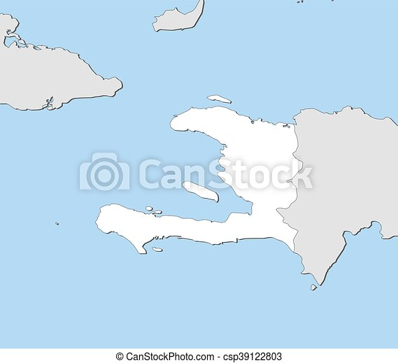 Map haiti map of haiti and nearby countries haiti is highlighted map haiti csp39122803 gumiabroncs Images