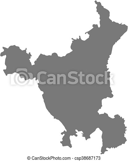 Haryana India Map.Map Haryana India Map Of Haryana A Province Of India