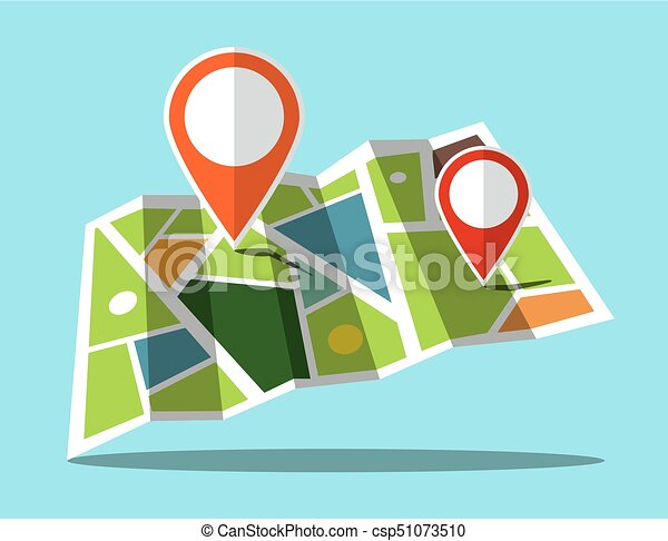 Map Icon with Markers - csp51073510